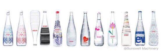 各种用于填充矿泉水的瓶子